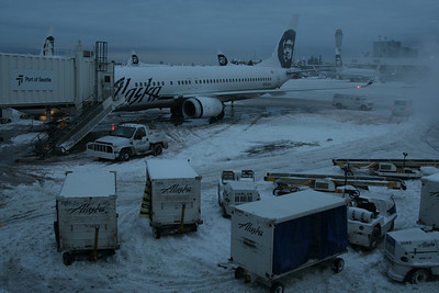 SeaTac in the snow